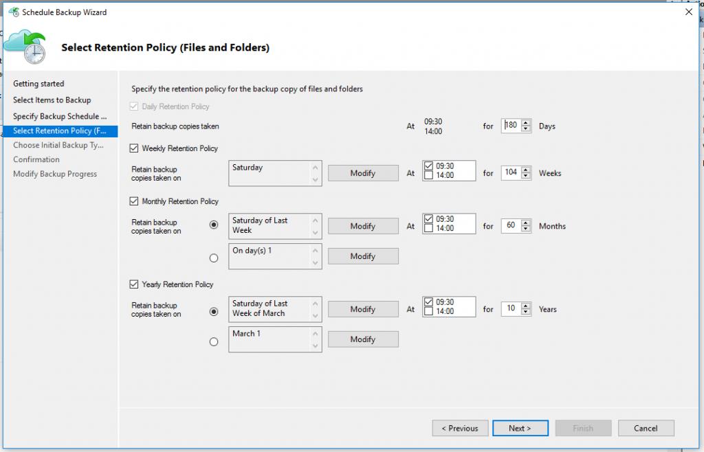 Azure Backup Retention